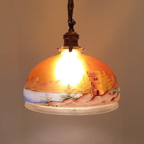Hanglamp antiek glas