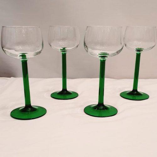 Wijnglas groene poot