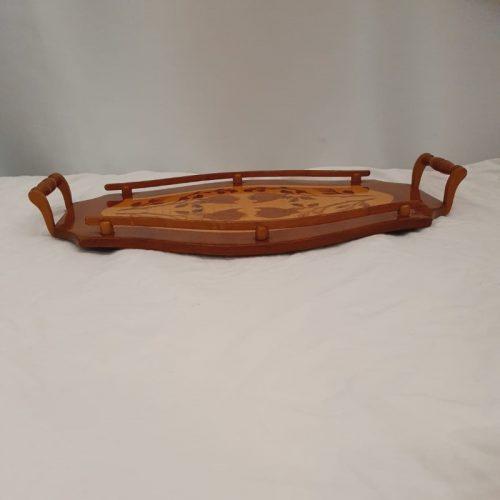Dienblaadje hout Art Nouveau